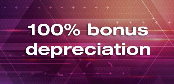 A photo of bonus depreciation