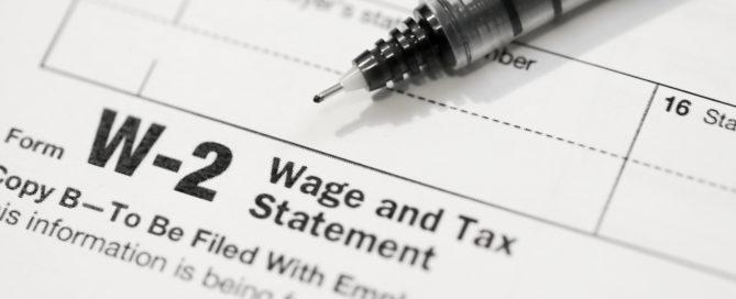 W-2 Tax Form photo