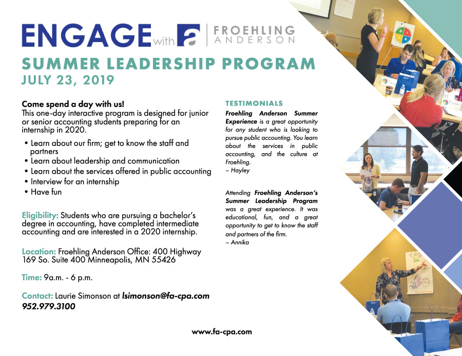 Froehling Anderson Summer Leadership Program