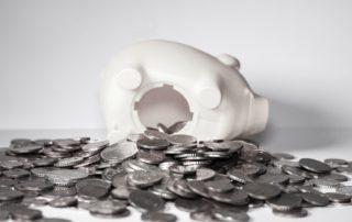 A photo of a piggy bank